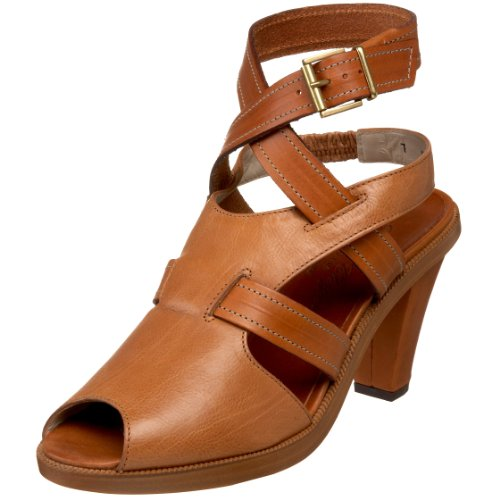 Robert Clergerie Women's Donta Sandal,Tan Gloss,9.5 B