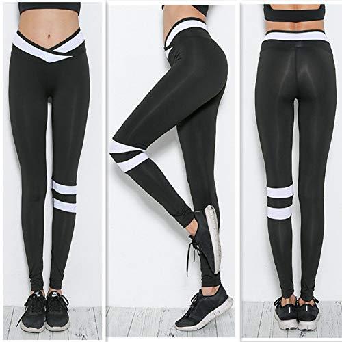 Yundongyi Drücken Sie Enge Yogahosen Kreuz-Taille Leggins Sport Frauen Fitness Yoga Leggings Sport Tragen Für Frauen Legging Sport,A1,S