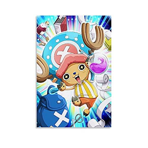 huanran Anime One Piece Chopper Poster, dekoratives Gemälde, Leinwand, Wandkunst, Wohnzimmer, Poster, Schlafzimmer, Gemälde, 40 x 60 cm
