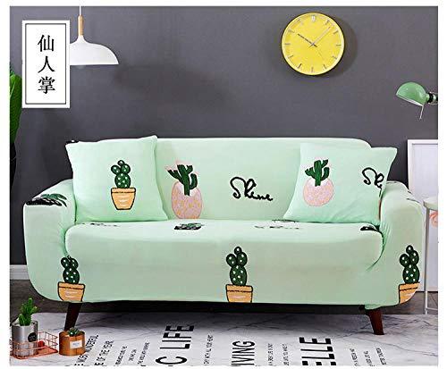 Allenger Funda de Fofá Elástica,Funda de sofá elástica con Estampado de Flores, Funda de sofá Antideslizante Universal para Todas Las Estaciones, lavable-25_190-230cm