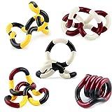 Fidget Toy Tangle, ZoneYan Giocattoli Anti Stress, Decompression Toy Set, Twister Fidget Toy, Mano Occhio Coordinazione Cervello Immagina di sentirti Avvolgente Gioco per autismo
