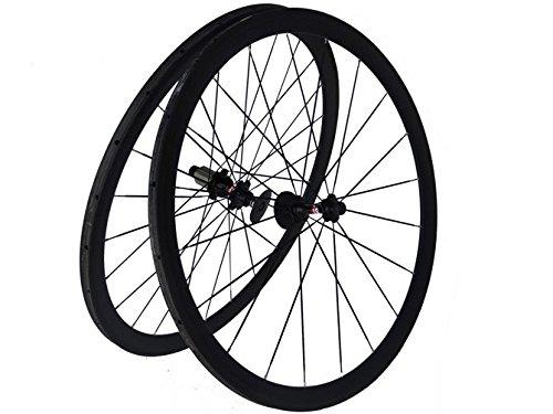 Flyxii Coppia di ruote tubolari in carbonio 3K per bicicletta da strada, 38 mm, cerchi raggi e mozzi per Shimano 8/9/10/11S