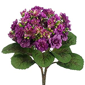 12″ Silk African Violet Flower Bush -Violet (Pack of 12)