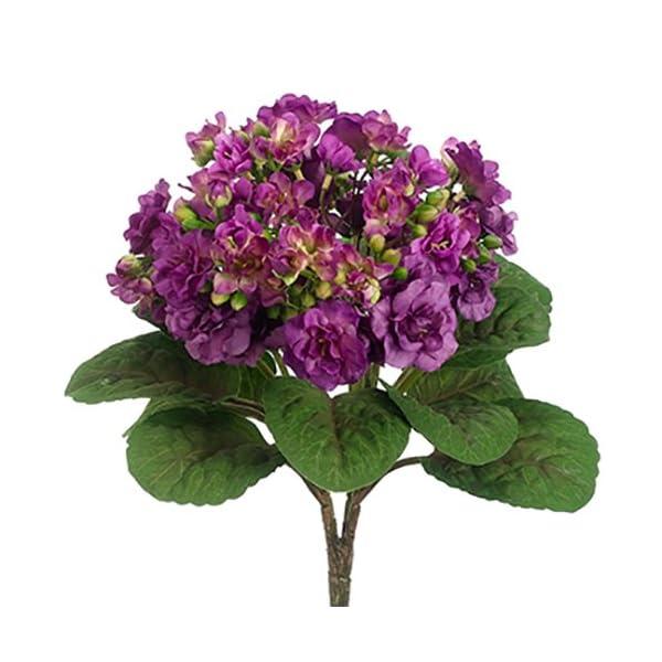 12″ Silk African Violet Flower Bush -Violet (Pack of 12)