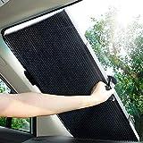 【最新版】車用サンシェード Relohas 遮光遮熱 自動伸縮 車窓日よけ UVカット 吸盤式 (フロントガラス用 70cm)