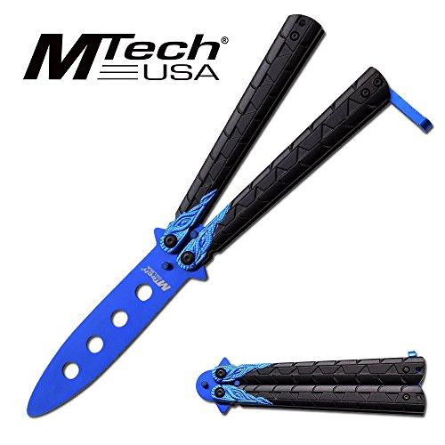 MTECH USA MT-872SL Butterfly Trainer-No Sharp Edge Dragon Balisong (Blue)