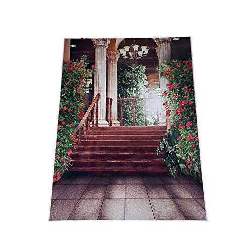 Gaoominy 5 x 7Ft SCH?ne Flores Palast Bodas Vinyl Foto Fondo estanco Impreso Cámara Fotografía Fondo