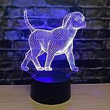 Romanzo Zodiaco cinese Animale selvatico Cartone animato 3D Lampada da tavolo a led Camera da letto...