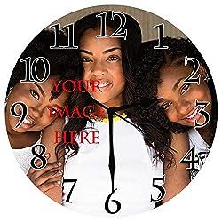 BCWAYGOD Personalized Wall Clock, Customized for Anniversary Friends Girlfriends, Customized Friendship Photo Gift Birthday Wedding Valentine's Day, 10 inch