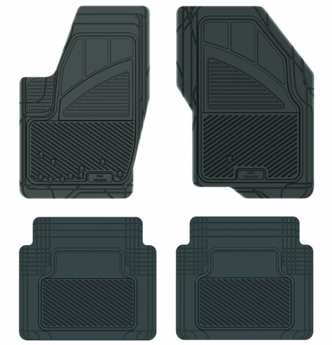 Koolatron Pants Saver Custom Fit 4 Piece All Weather Car Mat for Select Ford Taurus Models (Black)