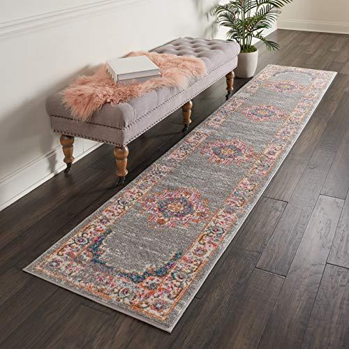 Marca de Amazon - Movian Vacha, alfombra rectangular, 304,8 de largo x 66 cm de ancho (diseño geométrico)