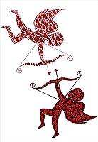 ウォールステッカー 飾り 30×30cm シール式 装飾 おしゃれ 壁紙 はがせる 剥がせる カッティングシート wall sticker 雑貨 ガラス 窓 DIY プチリフォーム パーティー イベント 賃貸 ラブリー ハート 天使 005604