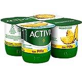 Activia Yogur 0% con Piña, 4 x 120g