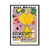 Moderno Retro Hilma Master exposición póster impresiones Hein cara abstracta pared arte imagen familia sin marco lienzo pintura B 30x40cm