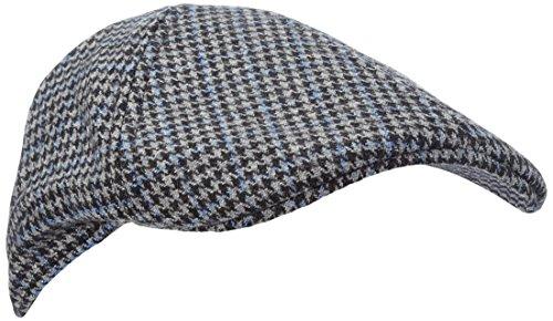 s.Oliver Herren Panamahut Schiebermütze, Gr. One size (Herstellergröße: 58), Grau (grey/black check 97N1)