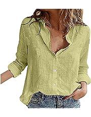トップス レディース uellak 無地 シンプル 七分丈 半袖 大きいサイズ 5色展開 ブラウス キレイめ ゆったり 上着 リネン風 体型カバー Tシャツ 着痩せ ルーズ カジュアル プルオーバー おしゃれ カットソー 大人 女性 通学 原宿系 夏服