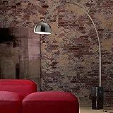 Luumos la lampada ad arco con base in marmo nero