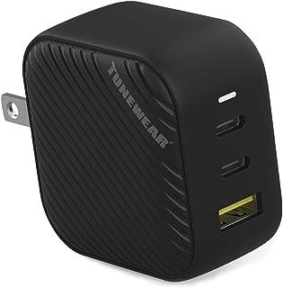TUNEMAX 66W GaN 充電器 USB-C 2ポート USB-A 1ポート 3ポート ブラック TUN-IP-200109