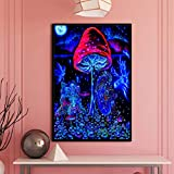 MXIBUN Bringen Sie Mich zu Ihrem Händler Abstrakte psychedelische Schwarzlichtposter...