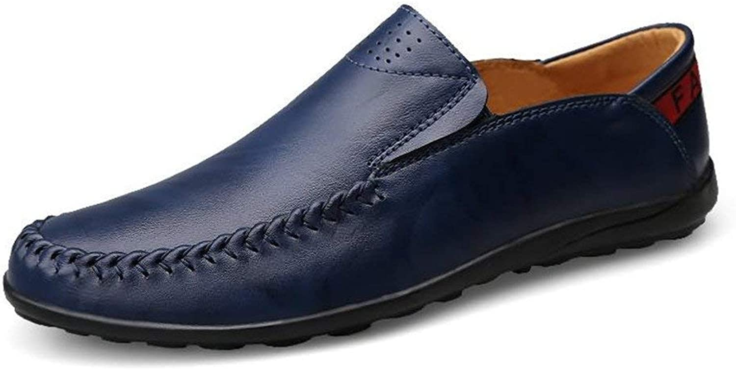 Hhgold Men's Moccasins shoes, Mens Driving Loafers Slip-on Comfort Moccasins Leisure Leather Lined Lightweight shoes (color  bluee, Size  40 EU) (color   As shown, Size   One size)