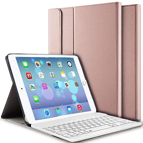 iPad Keyboard Case 9.7, Upworld Wireless Bluetooth Keyboard Cover Case for iPad 9.7 2018 | 2017 | iPad Air 2 | iPad Air, Ultra-thin Magnetically Detachable Removable Wireless Keyboard for iPad