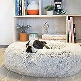 Cama extragrande lavable de piel sintética para perro con cubierta exterior, sofá calmante, cojín reversible para cachorro, saco de dormir autocalentante, tamaño XXL