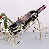 LIAOLEI10 Weinregal Weinregal Weinhalter Regal Charakter Metall Fahrrad Praktische Skulptur Weinständer Dekoration Innen Handwerk, Golden