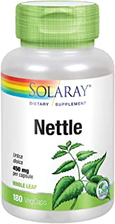 Solaray Nettle Leaf 450mg | Healthy Kidney, Urinary & Prostate Support | Traditional Use for Healthy Allergy Response & Re...