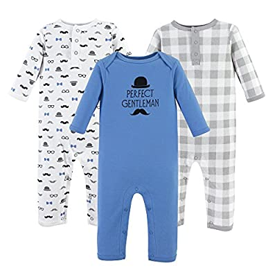 Hudson Baby baby girls Cotton Coverall, Perfect Gentleman, 9-12 Months US