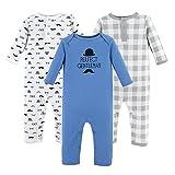 Hudson Baby Unisex Baby Cotton Coveralls, Perfect Gentleman, 3-6 Months
