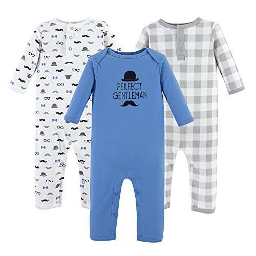 Hudson Baby baby girls Cotton Coverall, Perfect Gentleman, 6-9 Months US