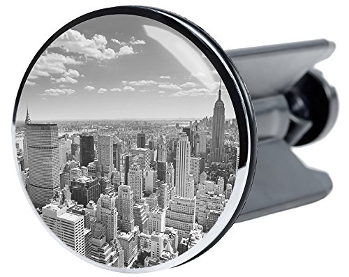 Waschbeckenstöpsel Skyline New York, passend für alle handelsüblichen Waschbecken, hochwertige Qualität ✶✶✶✶✶