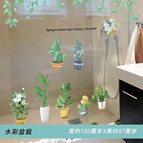 Wand-zu-wand-papier Selbstklebende Wasserdichte Bad Bad Fliesen Fenster Aufkleber Glasaufkleber 133 x 97cm E