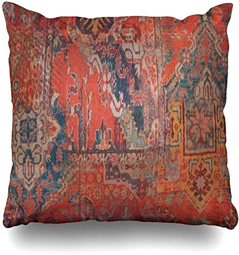 Throw Pillow Covers Red Moroccan Style Pillowslip Square Sofa Cute 20x20 Inches Cushion Cases Pillowcases
