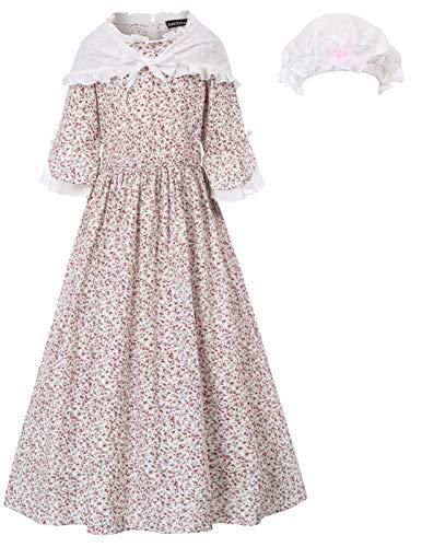 Pioneer Colonial Women Pilgrim Costume Prairie Dress 12Y Color-2