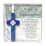 The Grandparent Gift Co. Gift for Great Grandpa, Made Like You Cross, Blue