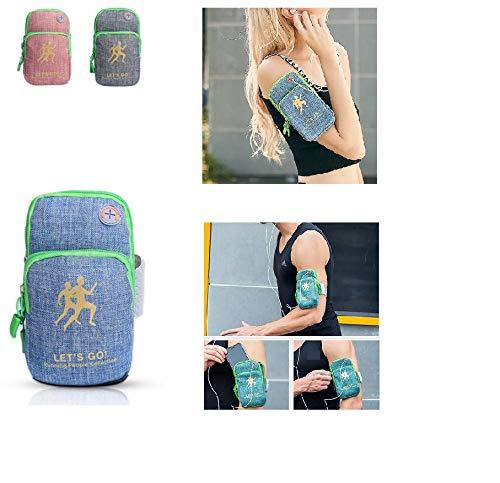 Sport Armband, Handgelenk Brieftasche Tasche Band Reißverschluss Unisex Running Travel Gym Radfahren Sichere Sporttasche (Grau)