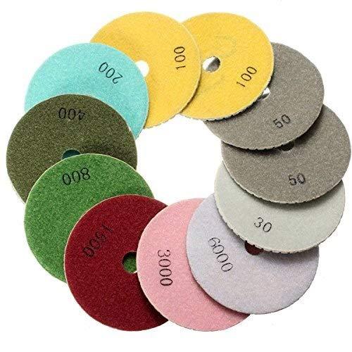 Lkk-kk 12pcs 4 pulgadas 30-6000 Grit secos y mojados diamante tampones for pulir con disco autoadhesivo
