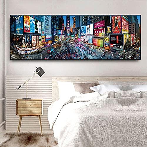 Diamond Painting Kits para Adultos/niños Calle de nueva york,5D DIY pintura Diamante imitación Crystal dot Bordado Punto de Cruz Grande Mosaico Art Crafts Sala Cuarto Wall Decor Regalo