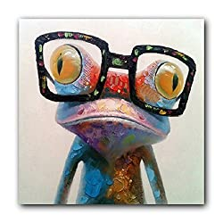 funny oil paintings - funny frog