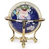 Globo Adorno La Enseñanza Globo Mapa del mundo educativo giratorio Globo del mundo Globo de suministros de oficina, hogar, Maestro Escritorio Decoración ( Color : Azul , tamaño : Un tamaño )