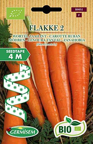 Germisem Orgánica Flakke 2 Semillas de Zanahoria en Cinta de 4 m