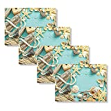 Blissful Living Set of 4 Placemats, Stain Resistant - Decorate Your Kitchen Table with Our Beautiful...