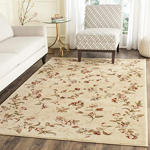 Safavieh Lyndhurst Collection LNH325A Traditional Floral Non-Shedding Stain Resistant Living Room Bedroom Area Rug, 9' x 12', Beige