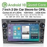 Android 10 Car Multimedia System WiFi Vehicle Audio Bluetooth Car Radio con Pantalla táctil de 7 Pulgadas Enlace Espejo USB DVR OBD2 Dab + Se Adapta a Opel Antara Combo Meriva (Gris)