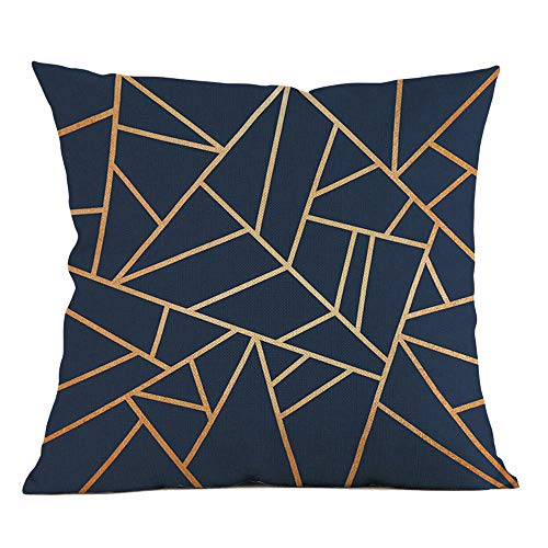 Watopi Soft Nordic Style Cushion Covers,Silver Gold Green Beige Pillowcase,Geometric Printing Throw Pillow Cover,45cm x 45cm, For Home Sofa Bed Decorative