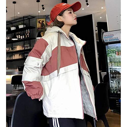 NSWTKL dames jeansjas winterjas rits hoodies oranje dikke verdikte mantel vrouwen Harajuku hip hop dames outwear