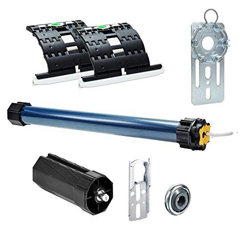 Somfy Rolladenmotor Ilmo 2 50 WT 10Nm/20kg Zugkraft inkl. Fertigkastenlager inkl. 2 x Hochschiebesicherung Secublock rapid + Mechanik-SET