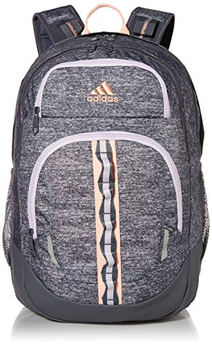 adidas Unisex Prime Backpack, Onix Jersey/ Onix/ Haze Coral/ Purple Tint, ONE SIZE