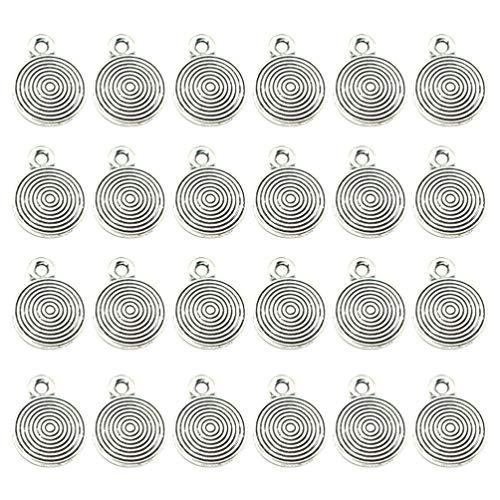 Amosfun - Colgantes de aleación, 50 piezas, colgantes decorativos para collares, manualidades, pendientes, joyería